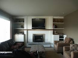 media wall units with fireplace