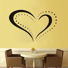 Small Picture Online Shop New Arrival Dotted Heart Shape Outline Removable Decal