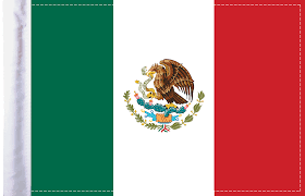 Mexico Motorcycle Flag | Mexico Country Flag