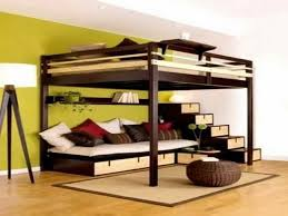 White Futon Bunk Bed Loft Bed Concept With Study Table And Folding And  Beautiful Double Loft