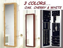 Wall Mounted Jewelry Cabinet With Mirror  Box Over64