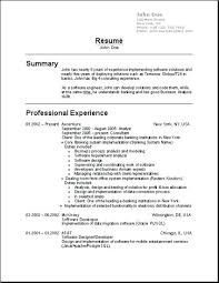Best Of Standard Resume Formats Resume Templates Free Simple ...