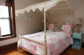 Girls Twin Canopy Bedroom Sets