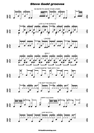 drums sheet music drum tabs sheet music drum lesson steve gadd latin grooves