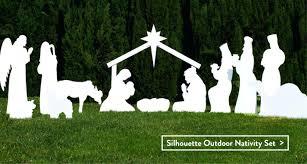 outdoor nativity scene silhouette style set wood plans outdoor nativity scene