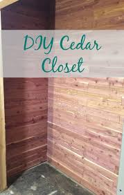 protect your belongings with a cedar lined closet get the tutorial here