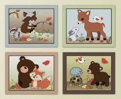 animal themed nursery decor forest friends woodland animal owl fox kids
