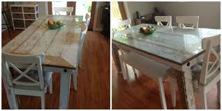 Distressed Furniture  Orca Beach Inc - Distressed dining room table and chairs