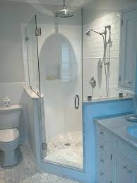 pony wall shower half wall shower glass marvelous door on modern home designing ideas with pony pony wall shower