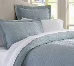 attractive blue duvet covers king valerie fl matelasse cover sham pottery barn