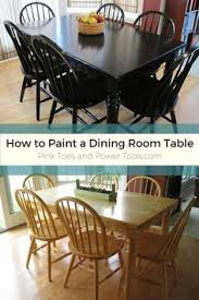 a diy with a dining room tablack