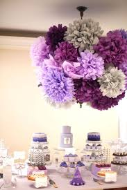 paper poms, dessert table, purple ombre party, first birthday,  gourmaya.tumblr