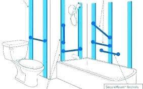 handicap bathroom bars handicap toilet grab bars height bathroom bar anchors bathtub placement great in handicap
