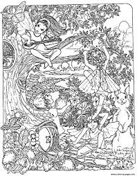 Coloring Pages Marvelous Elf Coloring Pages To Print Adult Fantasy