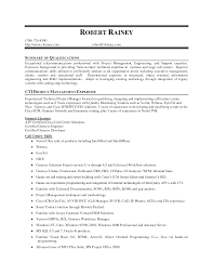 Project Management Expertise Resume Summary Of Qualifications Cti