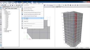 Small Picture ETABS 3D Reinforced Concrete Building with Shear WallPart 3