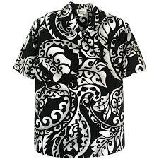 Aloha Republic Kanaka Tribal Tattoo Mens Hawaiian Shirt