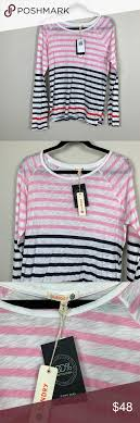 Sundry Bold Stripe Long Sleeve Tee Size 2 Medium