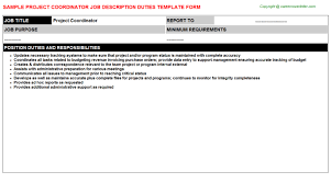 Project Coordinator Job Description | Careers Job Descriptions ...