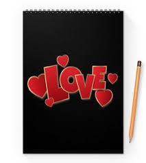 """Блокноты c дизайнерскими принтами """"i <b>love</b> you"""" - <b>Printio</b>"""