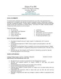 14 15 Resume For Med Surg Nurse 626reserve Com