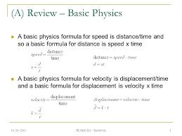 Velocity Distance Formula Math B Constant Speed Is When The Object ...