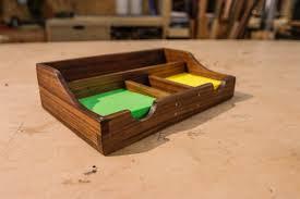 walnut desk organizer