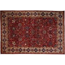 red wool area rug 6 8 x 9 indoor outdoor collection oriental
