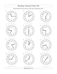 Kids Clock Worksheet Quarter Past And Telling Time Nearest Minutes ...