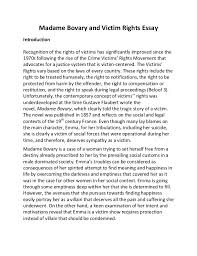 madame bovary and victim rights essay madame bovary and victim rights essay introduction recognition of the rights of victims has significantly improved