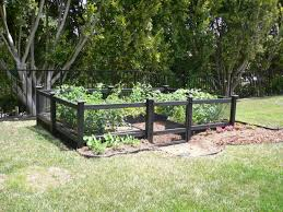 Kitchen Garden Fence Diy Small Raised Vegetable Garden Along Black Wood And Wire Fence