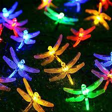 Dragonfly Garden Lights Us 9 97 30 Off Thrisdar 6 5m 30led Solar Led String Light Outdoor Garden Dragonfly Solar Fairy Light Garland Fence Patio Christmas Solar Light In