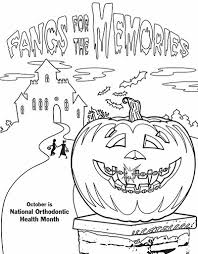 Small Picture Ortho Themed Halloween Coloring Pages Free Download Vancouver