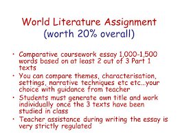 welcome to ib english ppt 5 world literature assignment
