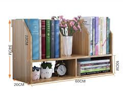 office book shelf. 60*20*34CM Solid Wood Bookcase Portable Desktop Bookshelf Modern Office Book Shelf T