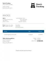 Trucking Company Invoice Template
