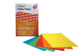 Pukka Paper Assorted Coloured Paper A4 Amazon Co Uk Office Products