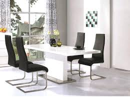 large white dining table and chairs high gloss leather intended for inspirations 19