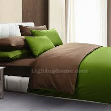 green and coffee duvet cover solid bedding
