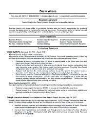Sample Analyst Resume Business For Financial And Junior It 9 Peppapp