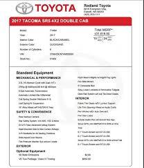 Toyota Invoice Pricing Apcc2017