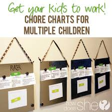 Multiple Child Chore Chart Chore Chart For Multiple Children Put Your Kids To Work