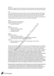 monetary policy essay year hsc economics thinkswap monetary policy essay
