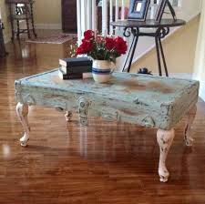 Idea Coffee Table Shabby Chic Vintage Trunk Lid Coffee Table What A Great Idea