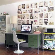 simple office decorating ideas. pulchritudinous green desk design with simple table lamp on computer and wall art decoration white chair laminate floor office decorating ideas