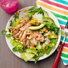 grilled chicken salad.  Chicken Grilled Chicken U0026 Corn Salad With Chipotle Crema For C