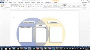 traditional vs online classes venn diagram activity