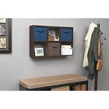 6 cube shelf storage organizer wood mini cubicles set of 2 espresso wall desk 618020587465