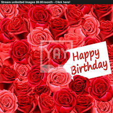 red rose happy birthday image happy birthday on wallpaper of red roses image yayimages
