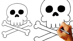 drawing tutorial 1280x720 how to draw cartoon skull